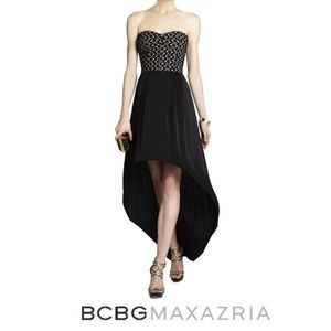 BCBGMAXAZRIA High Low Bustier Cocktail Dress, 4